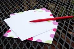 Note de patio Images stock