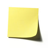 Note de post-it Photos libres de droits