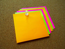Note de post-it colorée Image stock