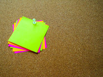 Note de post-it colorée Image libre de droits