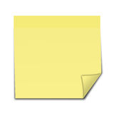 Note de post-it jaune Photos stock