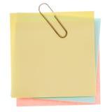 Note de post-it jaune Images libres de droits
