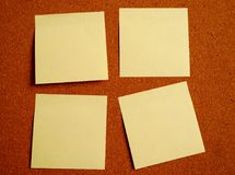 Note de post-it quatre Images stock