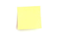 Note de rappel, post-it ! ! images libres de droits