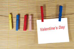 Note de Saint-Valentin Photos stock