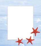 Note de vacances de mer de cadre d'été Photos libres de droits