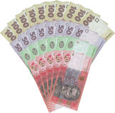 note dei fondi dell'Ucraina Fotografia Stock Libera da Diritti
