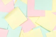 Note del documento colorato Fotografie Stock