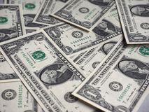 Note del dollaro, Stati Uniti immagine stock
