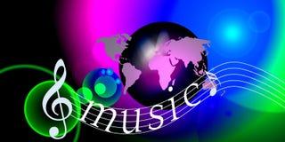 Note del mondo di musica del Internet Immagini Stock Libere da Diritti