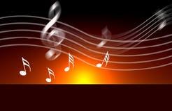 Note del mondo di musica del Internet Fotografie Stock