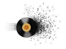 Note del record e di musica di vinile Fotografia Stock Libera da Diritti