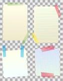 Note della carta in bianco di vettore Fotografia Stock