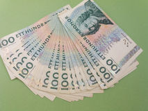 100 note della corona svedese della corona svedese, valuta del Se della Svezia Fotografia Stock
