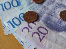 Note della corona svedese, Svezia Immagini Stock Libere da Diritti