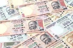Note della rupia indiana Fotografia Stock