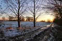 Note des Sonnenuntergangs Stockfotografie