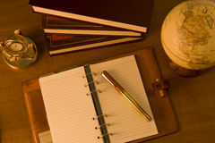 Note on desk Stock Photo