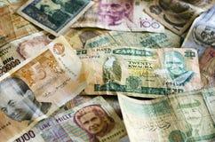 Note di attività bancarie del Vecchio Mondo Fotografie Stock Libere da Diritti