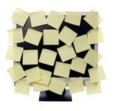 Note di carta sul video del calcolatore Immagine Stock Libera da Diritti