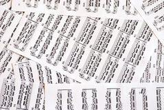 Note di musica Fotografia Stock Libera da Diritti
