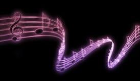 Note di musica Immagini Stock