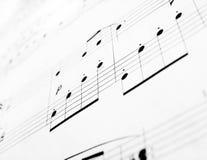 Note di musica fotografia stock