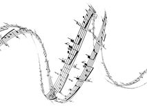 note di musica 3d Fotografia Stock