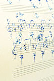 Note di musica Immagine Stock