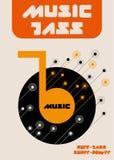 Note di musica di jazz Immagini Stock