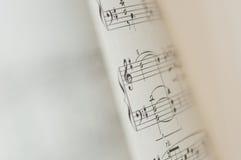 Note di musica su fondo bianco Immagini Stock Libere da Diritti