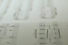 Note di musica su fondo bianco Fotografie Stock Libere da Diritti