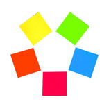 Note di post-it colorate multiple Fotografia Stock