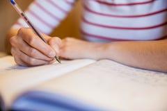 Note di scrittura della studentessa Fotografia Stock Libera da Diritti