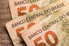 Note di valuta reale e brasiliana Soldi dal Brasile Immagine Stock Libera da Diritti
