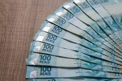 Note di valuta reale e brasiliana Soldi dal Brasile Fotografie Stock