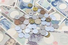 Note di Yen giapponesi Fotografie Stock