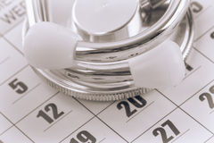 A note of a doctor appointment Royalty Free Stock Images