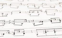 Note e doghe di musical Fotografie Stock Libere da Diritti