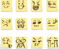 Note emotion set Stock Images