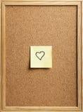 Note en forme de coeur Images libres de droits
