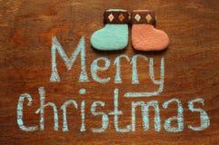 Note et chaussettes de Noël images libres de droits