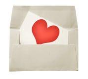 Note et enveloppe d'amour Photos libres de droits