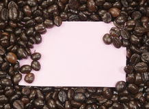 Note et grains de café vides Images libres de droits