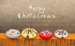 Note et ornements de Noël photo stock
