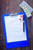 Note et pilules Images libres de droits