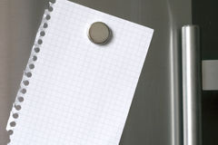 Note at the fridge royalty free stock images