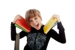 Note g. Portrait of a styled teen. Theme: teens, education, fashion Royalty Free Stock Image