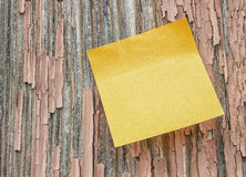 Note Grunge Wood Royalty Free Stock Image