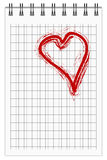 Note With Heart Stock Image